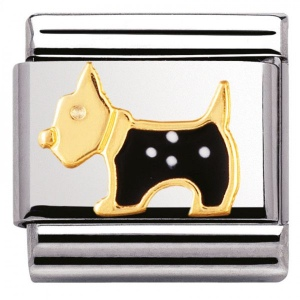 Nomination - Link 18K Gold Scottish Terrier 030248/09