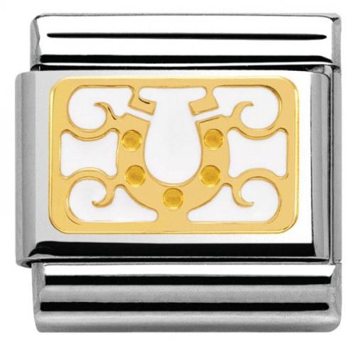 Nomination - Link 18K Gold 'Podkowa' 030280/14