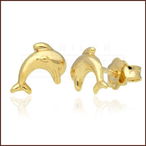 Złote kolczyki - delfinki pr.585