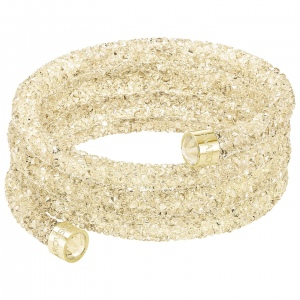 Bransoletka SWAROVSKI - Crystaldust Wide Bangle, Gold Tone 5292446 S