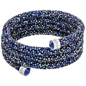 Bransoletka SWAROVSKI - Crystaldust Wide Bangle, Blue 5294928 S