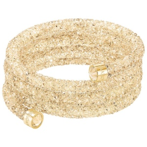 Bransoletka SWAROVSKI - Crystaldust Wide Bangle, Gold Tone 5277587 M