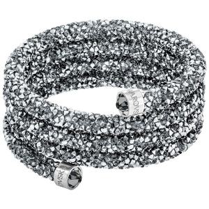 Bransoletka SWAROVSKI - Crystaldust Wide Bangle, Gray 5292443