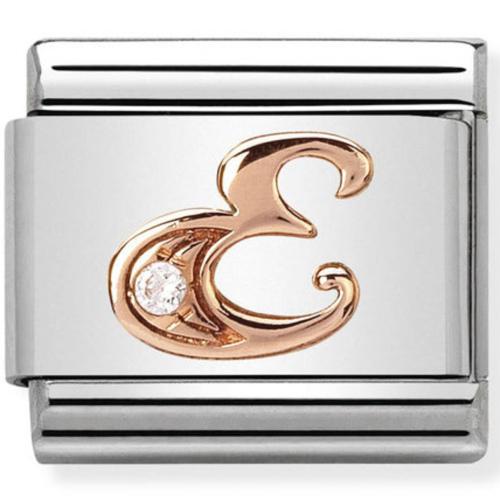 Nomination - Link 9K Rose Gold 'Litera E' 430310/05