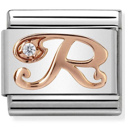 Nomination - Link 9K Rose Gold 'Litera R' 430310/18