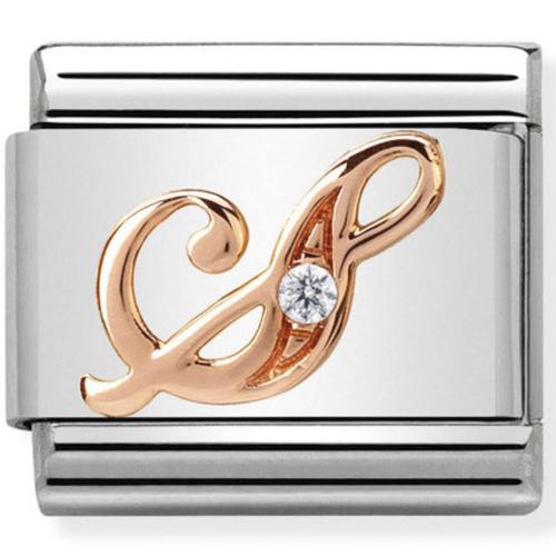Nomination - Link 9K Rose Gold 'Litera S' 430310/19