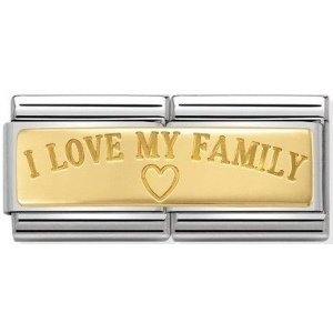 Nomination - Double Link 18K Gold 'I love my family' 030710/03