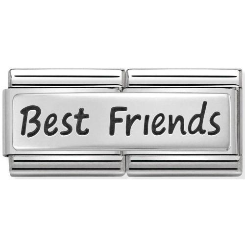 Nomination - Double Link 925 Silver 'Best Friends' 330710/03