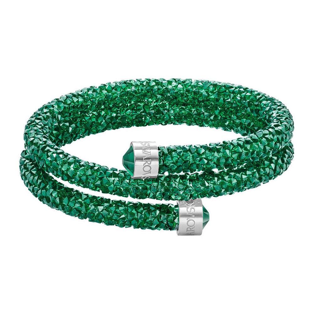 Bransoletka SWAROVSKI - Crystaldust Double Bangle, Green 5292450