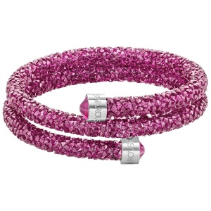Bransoletka SWAROVSKI - Crystaldust Double Bangle, Pink 5292449 S
