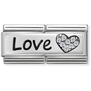Nomination - Double Link 925 Silver 'Love' 330731/05