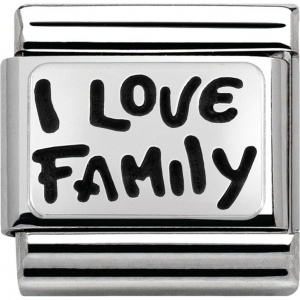 Nomination - Link 925 Silver 'I Love Family' 330102/34