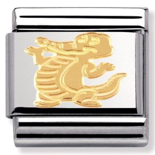 Nomination - Link 18K Gold Krokodyl 030149/18