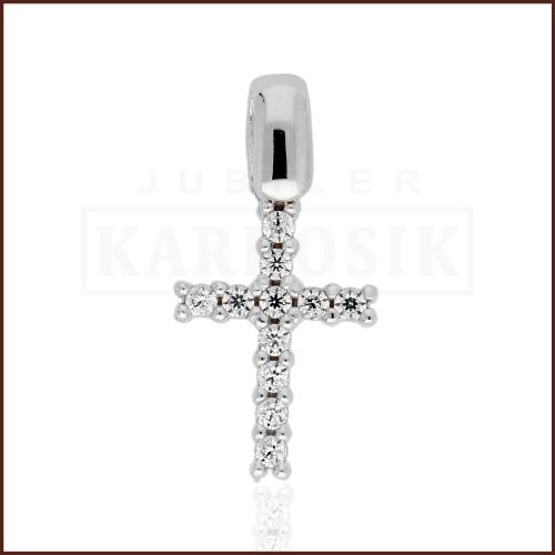 Złota Zawieszka Krzyżyk z Cyrkoniami pr.585