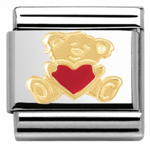 Nomination - Link 18K Gold 'Teddy with Heart' 030253/32