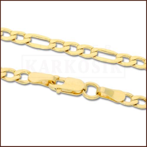 Złoty Łańcuszek Figaro 55 cm pr. 585