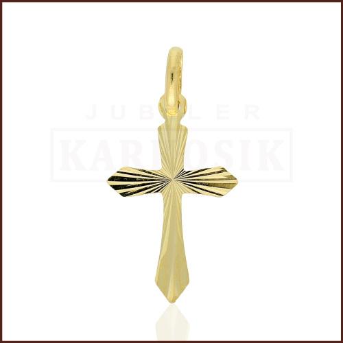 Złota Zawieszka Krzyżyk pr.333
