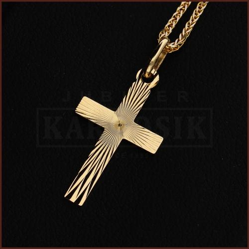 Złota Zawieszka Krzyżyk pr.585