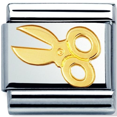 Nomination - Link 18K Gold Nożyczki 030109/04