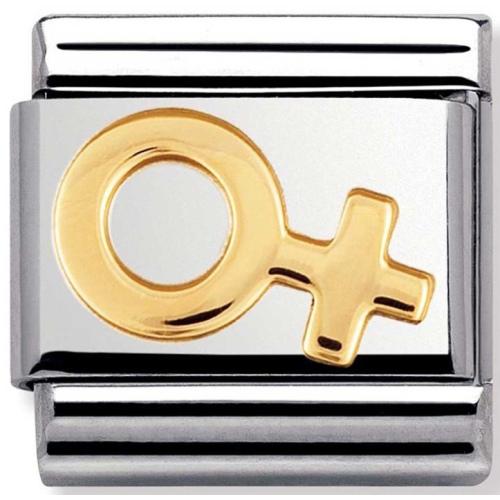 Nomination - Link 18K Gold Symbol Żeński 030116/04