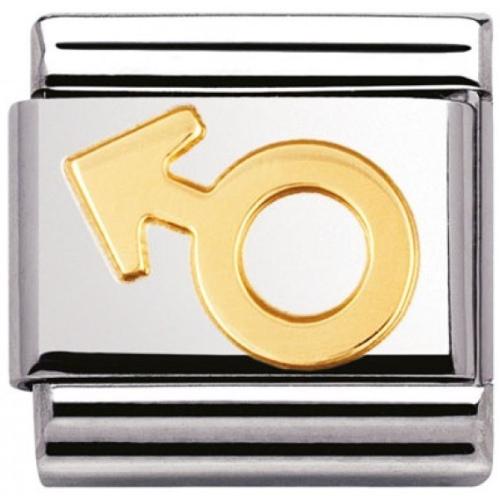 Nomination - Link 18K Gold Symbol Męski 030116/05