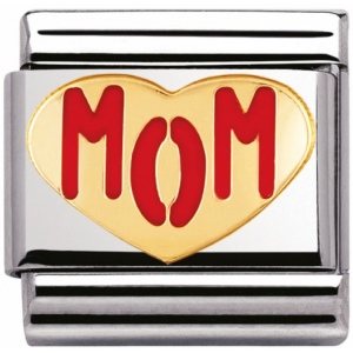 Nomination - Link 18K Gold Mom Heart 030229/38