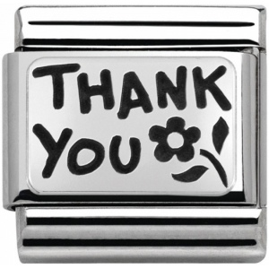 Nomination - Link 925 Silver 'Thank You' 330102/42