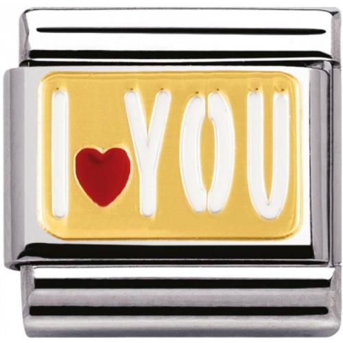 Nomination - Link 18K Gold I love You 030261/27