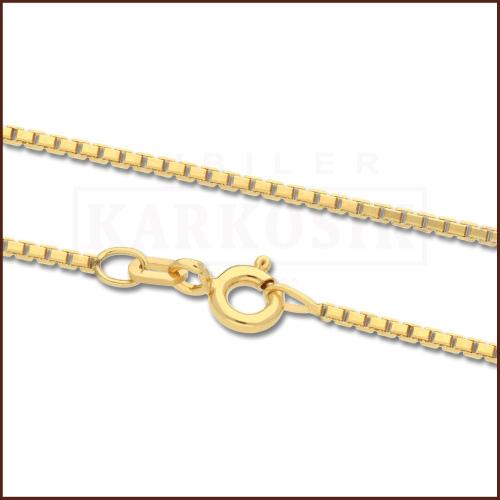 Złoty Łańcuszek Kostka 42cm pr. 585