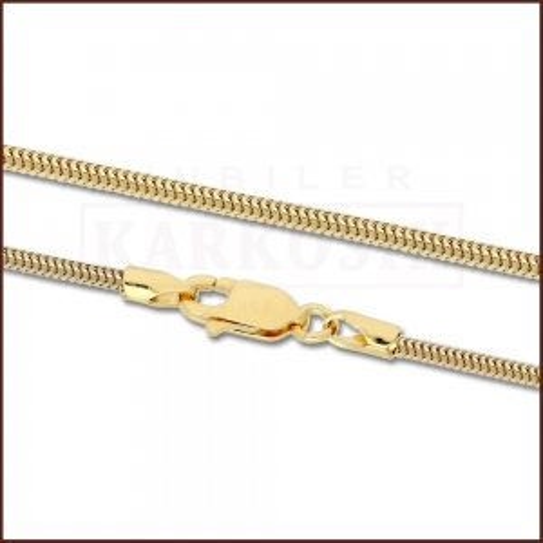 Złoty Łańcuszek Żmijka 42cm pr. 585