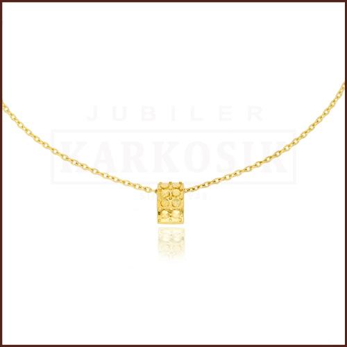 Złoty Naszyjnik Celebrytka Zawieszka Z Cyrkoniami pr.585