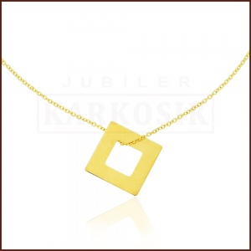Złoty Naszyjnik Celebrytka Zawieszka Romb pr.585
