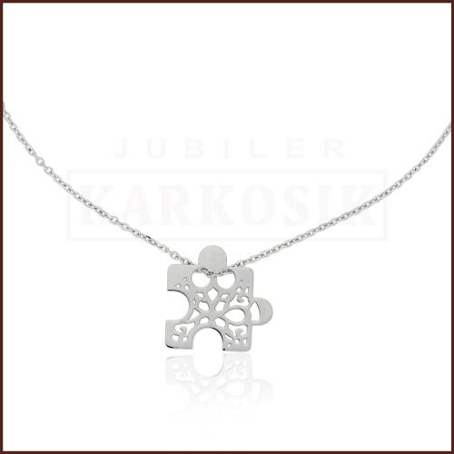 Srebrny Naszyjnik Celebrytka Ażurowe Puzzle pr.925