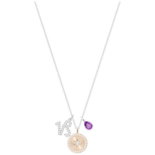 Naszyjnik SWAROVSKI - Zodiac Koziorożec Purple Rhodium 5349216