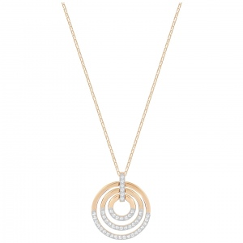 Naszyjnik SWAROVSKI - Circle Rose Gold 5349193