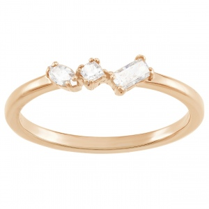 Pierścionek SWAROVSKI - Frisson Ring Rose Gold 5371001
