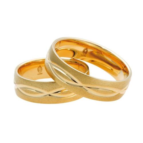 Obrączki ślubne Łazur wzór H01