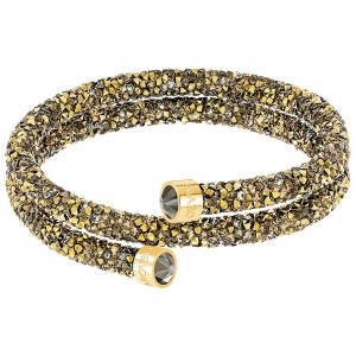 Bransoletka SWAROVSKI - Crystaldust Double Bangle, Multi Gold 5348103 M