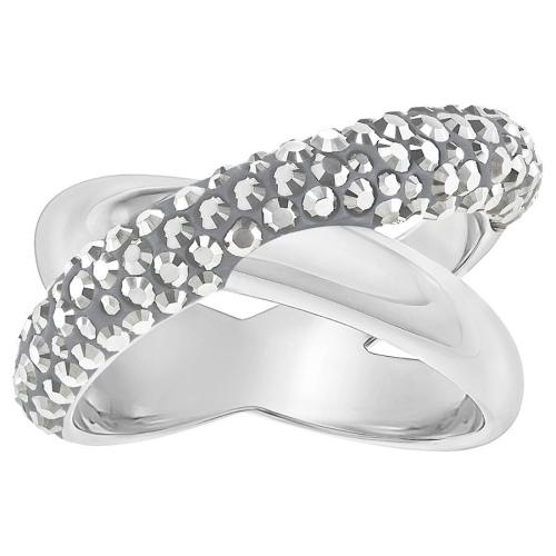 Pierścionek SWAROVSKI - Cross Ring, Black, Gray 5348408 55