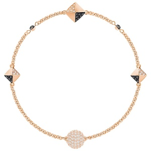 Bransoletka SWAROVSKI - Swarovski Remix Collection Black and White, Rose gold 5352537