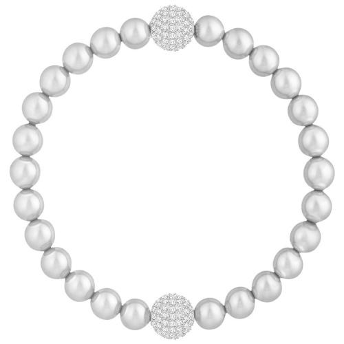 Bransoletka SWAROVSKI - Remix Light Gray Crystal Pearl 5364103