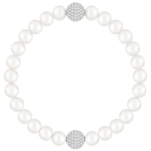 Bransoletka SWAROVSKI - Remix Collection, White Crystal Pearl 5365736