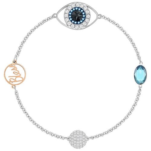 Bransoletka SWAROVSKI - Remix Collection Eye Symbol, Blue 5365749