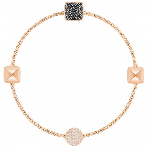 Bransoletka SWAROVSKI - Remix Collection Spike, Black, Rose gold 5365753