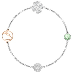 Bransoletka SWAROVSKI -Remix Collection Clover, Green 5365755