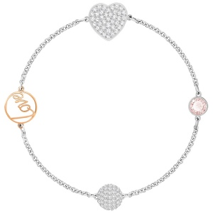 Bransoletka SWAROVSKI - Remix Collection Heart, Pink 5365760