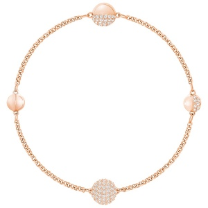 Bransoletka SWAROVSKI - Remix Collection Round Shape, White, Rose gold 5365763