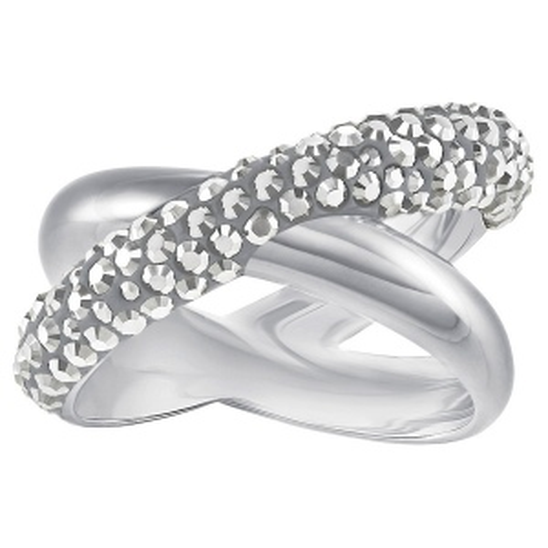 Pierścionek SWAROVSKI - Cross Ring, Black, Gray 5372898 58