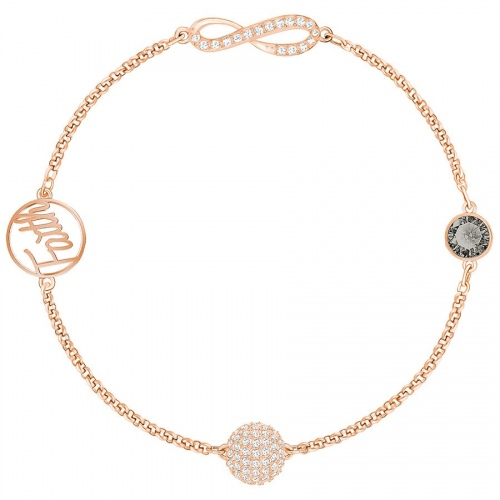 Bransoletka SWAROVSKI - Remix Collection Infinity Symbol, Black, Rose gold 5365734