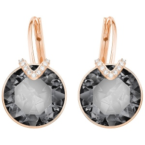 Kolczyki SWAROVSKI - Bella V, Large, Gray, Rose gold 5353202